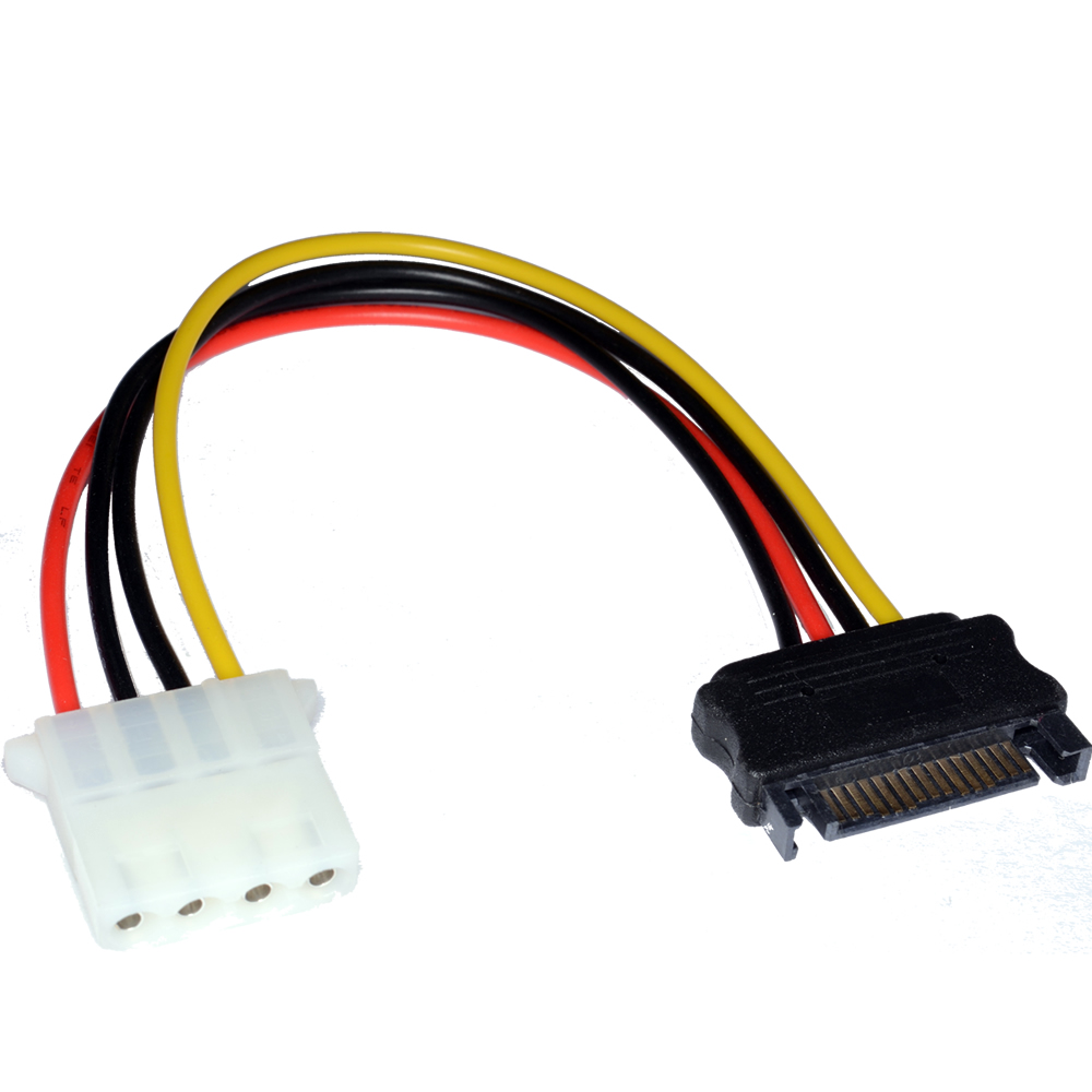 Power adapter, Molex to SATA power socket