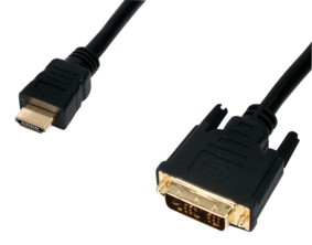 Gold DVI to HDMI cable