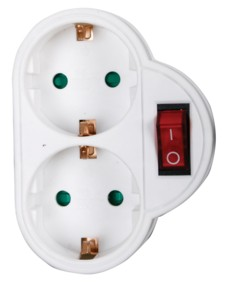 2-Way switchable powersocket