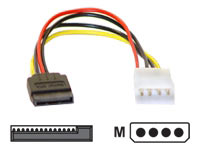 Power adapter, Molex socket to SATA power.